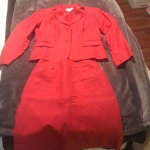 Beautiful Linen/silk skirt suit